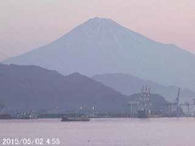 Mt. Fuji outlook from the rooftop of Shimizu Marine Terminal